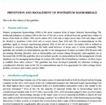 Prevención y Manejo de Hemorragia Posparto